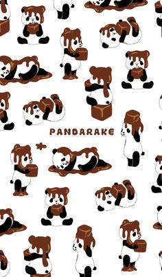 Chocolate has hung to the panda. It is Chocodarake version of PANDARAKE. Please to Valentine. Cute Panda Wallpaper, Bear Wallpaper, Cute Disney Wallpaper, Cute Wallpaper Backgrounds, Wallpaper Iphone Cute, We Bare Bears Wallpapers, Panda Wallpapers, Cute Cartoon Wallpapers, Panda Background