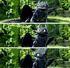 "First He's like ""get away!"" Then, ""Oh wait, I know you"" and then, ""Hey hiccup, you remember this guy?"""