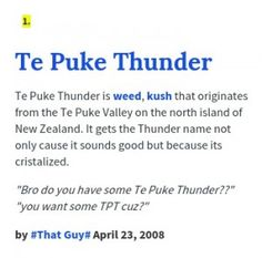 Te Puke Thunder - Brief Info