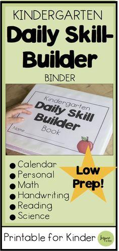 This Kindergarten Daily Skill-Builder Notebook focuses on six different subject areas: Calendar, per Kindergarten Calendar, Kindergarten Homeschool Curriculum, Kindergarten Morning Work, Kindergarten Curriculum, Kindergarten Independent Work, Learn To Read Kindergarten, Homeschooling, Kindergarten Goals, Homeschool Books