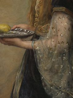 ''The Captive ''or ''Ruby'' oil on canvas (detail), by John Everett Millais, 1882, Art Gallery of New South Wales , Sydney , Australia.