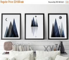 30% OFF Set of 3 Prints, Scandi Mountains, Mountain Print Set, Scandinavian, Minimalist Poster, Art Set, Scandinavian Print, Printable, Scan