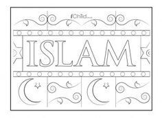 This poster template can be coloured in, decorated and displayed, to celebrate the religion Islam.