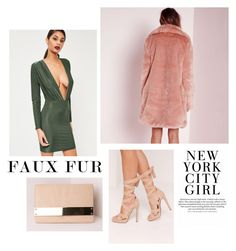 """""""Faux Fur Coats"""" by tessawarongan on Polyvore featuring Missguided, glam, missguided, holidaystyle, HolidayParty and fauxfurcoats"""