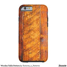 Wooden Table Pattern Tough iPhone 6 Case  #wood #carpenter #carpentry #panel #hard #floor #planks #wooden #woodgrain #timber #texture #hardwood #boards #structure #old #iphonecase