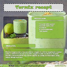 Egy finom és édes körtés zöldturmix receptje.