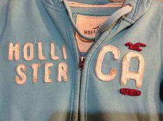HOLLISTER CA TEEN SM WM ZIP UP HOODIE,LIGHT AQUA(GOOD CONDITION) #Hollister #Hoodie