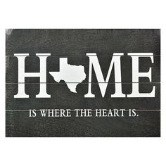 Sheffield Home ''Home Is Where The Heart Is'' Texas Wall Art