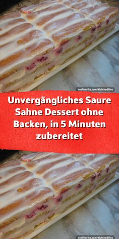 Unvergängliches Saure Sahne Dessert ohne Backen in 5 Minuten zubereitet It is sweet and tasty and can be prepared quickly, especially without baking. Baked biscuits and sour cream are an ingenious combination that will always be a pleasure. Tiramisu Dessert, Paleo Dessert, Dessert Recipes, Sour Cream Desserts, No Bake Desserts, Easy Desserts, Baking Desserts, Dessert Simple, Biscuits Au Four