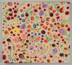 """""""The Flower People"""" by Melanie Rose -- 2015; Felted wool, Saskatchewan and Union made blanket; 77 x 85 x 5; Value: $700.00; Sold. Felted Wool, Wool Felt, Hand Craft Work, Make Blanket, Union Made, Canada, Gallery, Rose, Flowers"""