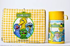My kindergarten lunch box! Vintage Sesame Street Lunch Box & Thermos