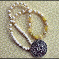 Sunflower boho statement necklace Sunflower Boho pendant statement necklace Boho Beads by Stella Jewelry Necklaces