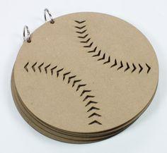 Baseball Ball Album - Chipboard [1353] $7.00 : Want 2 Scrap, Live life ... scrapbook it!