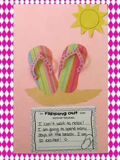 Im Flipping Out Over Summer! Writing and Craftivity FREEBIE