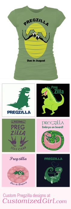 "Hahahaha if i ever have kids, i want a pregzilla shirt because i will undoubtedly be the biggest ""pregzilla"" ever. sorry not sorry."