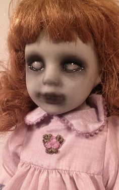 Image result for how to distress a porcelain doll for halloween