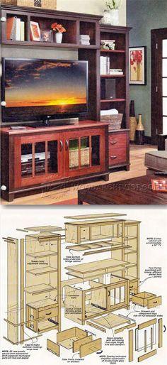 Entertainment Center Plans - Furniture Plans and Projects | WoodArchivist.com