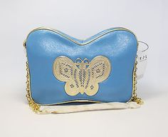 Kenneth Jay Lane Butterfly Blue Handbag Purse - Sex and the City - K.J.L.