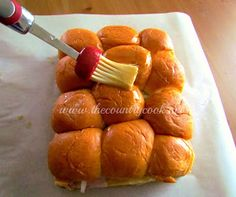 The Country Cook: Hawaiian Ham & Cheese Rolls