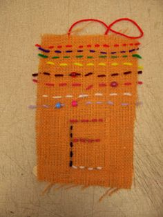Second grade weaving and other cute art projects Cute Art Projects, Sewing Projects For Kids, Project Ideas, 2nd Grade Activities, Art Activities, 2nd Grade Art, Grade 1, Second Grade, Burlap Art