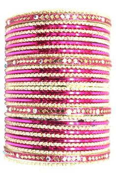 utopiajdesigns.com: Bangles Set Pink [KP 1032]  $24.00