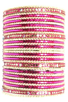 utopiajdesigns.com: Bangles Set Pink [KP 1032]  $24.00