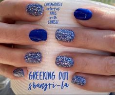 geeking out color street nails Get Nails, Love Nails, How To Do Nails, Pretty Nails, Hair And Nails, Nail Color Combos, Nail Colors, Gel Color, Foot Tattoos