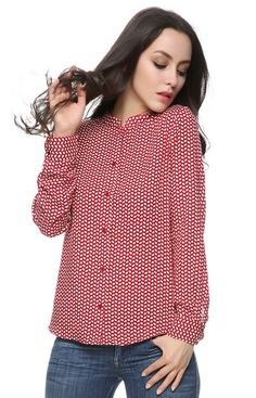 Red Leaves Blouse