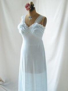 1960's Sheer Delicate Feminine Powder Blue by GlamorousScavenger, $24.00