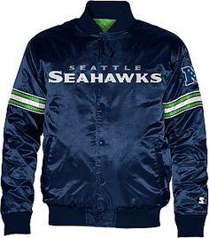 STARTER Men's Seattle Seahawks Team Color 2013 Satin Starter® Jacket #giftofsport