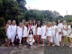 This day was a surprise for the bride to be, she had no idea what was planned for the day. She had been told to dress in white and to be at the Nerang railway station by 10.15 am. I drove to the Gold Coast and picked up some of her friends, who were also all dressed in white. I might add they were all stunning and the white theme added to the day's experience.  When we arrived at Nerang station the remainder of the group were with the bide to be and we set out for Tamborine