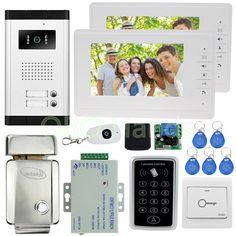 Em Door Lock Elegant In Smell 8g Sd Waterproof Rain Cover Free Shipping New 7 Door Monitor Video Intercom Home Door Phone Recorder System