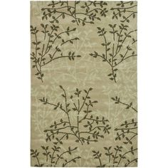 Found it at Wayfair - Soho Green Floral Area Rug