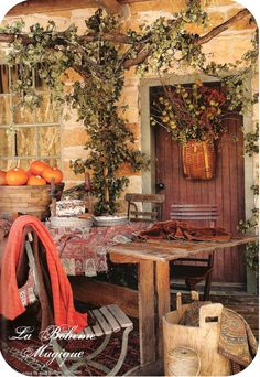 I love all things rustic....i want this to be in my backyard.