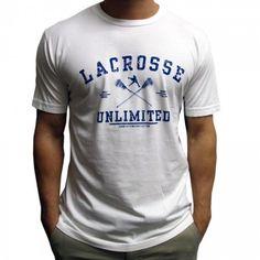 #LacrosseUnlimited Hard Hitting Lacrosse Tee #lax #lacrosse