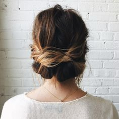Natural, beautiful updo.