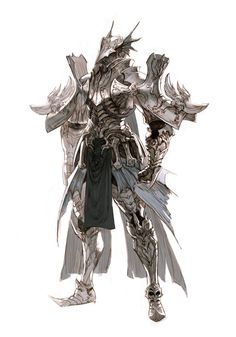 concept study, Kyoung Hwan Kim on ArtStation Arte Final Fantasy, Fantasy Kunst, Fantasy Armor, Medieval Fantasy, Fantasy Character Design, Character Design Inspiration, Character Concept, Character Art, Dragon Armor