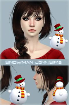 Jenni Sims: Accessory Snowman by JenniSims • Sims 4 Downloads