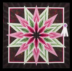 2014 Quilt Expo Quilt Contest, 3rd Place, Category 7, Wall Quilts, Machine Quilted - Pieced: Black Peppermint, Gayle Carter, Marana, Ariz. www.quitexpo.com