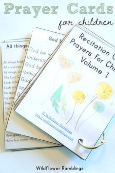 Prayer Cards for Children {free printable!} - Wildflower Ramblings