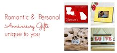 Personalized Anniversary gifts perfect for him and for her