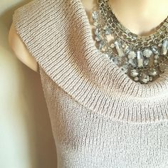 """Sleeveless Cowl Neck or Off the Shoulder Top Excellent Condition. Side seem is 14"""" long, chest 19"""" wide. This  fabric has a lot of stretch, and silver hair lining throughout. 84% cotton, 16% nylon.  No trade. no paypal. Reasonable offers accepted. Thank you for shopping my closet! Finity Studio Tops"""