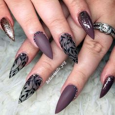 Best Stiletto Nails Designs, Ideas and Tips For You - - Glamorous Stiletto Nail Designs Youll Adore ★ See more: naildesignsjourna. Beautiful Nail Art, Gorgeous Nails, Fancy Nails, Trendy Nails, Matte Nails, Pink Nails, Black Nails, Acrylic Nails, Nagellack Design