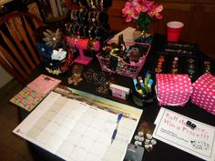 """If you want to book more parties, try giving away a """"free gift"""" at a party or event. It just needs to be a cute package. Give away a piece of jewelry you want to get rid of. If you want to add the """"dice game"""""""