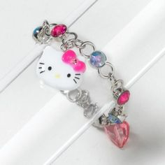 Hello Kitty Charm Bracelet (#74271): Flaunt this Hello Kitty cutie when youre feeling playful. This chamer adds fun sparkle to a flouncy floral dress. $4.50