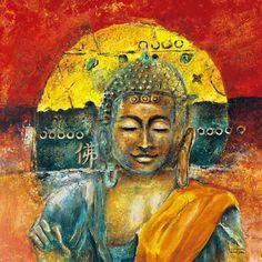 Kunstdruck in Wunschgröße von Tarin, Michael: A Buddha Chillout Buddha Kunst, Buddha Art, Wand Tattoo, Religion, Indian Gods, Mona Lisa, How To Look Better, Van, Art Prints