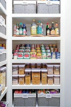 Customize your kitchen cabinets with storage and organization that suits your needs and lifestyle. Small Pantry Organization, Home Organisation, Organized Pantry, Pantry Ideas, Organize Small Pantry, Bathroom Closet Organization, Kitchen Cupboard Organization, Medicine Organization, Refrigerator Organization