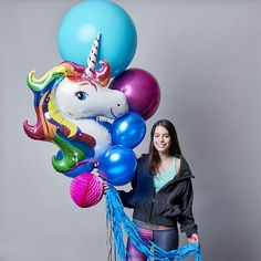 UNELEFANTE // #unicorn #rainbow #balloon #bouquet #honeycomb