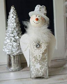 2015 édition OOAK la main bonhomme de neige, euh, une, personne, snowperson...  Cet Ange de belle neige regal rendrait le cadeau parfait pour