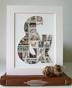 Initials, Family Name or one letter for each member of the family. #DIY photo project.